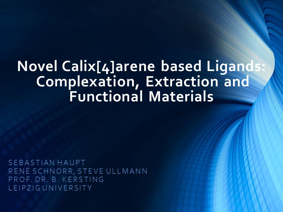 Novel Calix[4]arene based Ligands: Complexation, Extraction and Functional Materials